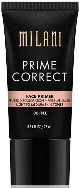 Podkład - Milani Prime Correct Diffuses Discoloration + Pore-minimizing Face Primer Light/Medium — фото N1
