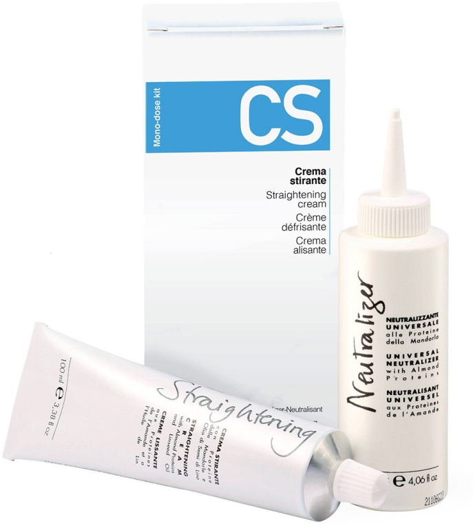 Zestaw - Fanola CS Straightening Kit (hair/cr 100 ml + neutralizer 120 ml)
