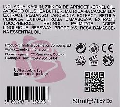 Kojący krem do twarzy z olejkiem różanym - Hristina Cosmetics Rose Anti Acne Face Cream — фото N3