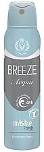 Kup PRZECENA! Dezodorant w sprayu - Breeze Acqua Invisible Fresh Deodorante Spray 48H*