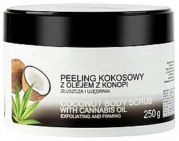 Kup Peeling kokosowy do ciała z olejem z konopi - India Coconut Body Scrub Cannabis Oil