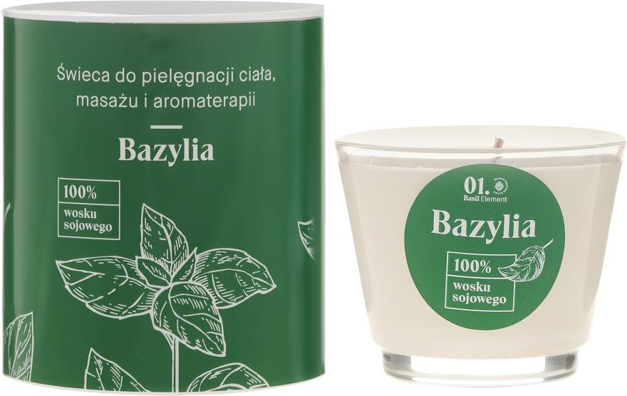 Świeca do pielęgnacji ciała, masażu i aromaterapii Bazylia - _Element Basil — фото N1
