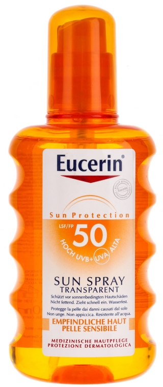 Transparentny spray ochronny (SPF 50) - Eucerin Sun Spray Transparent SPF 50 — фото N1