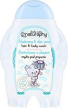 Kup Borówkowe mydło pod prysznic do włosów i ciała dla dzieci z aloesem - Bluxcosmetics Naturaphy
