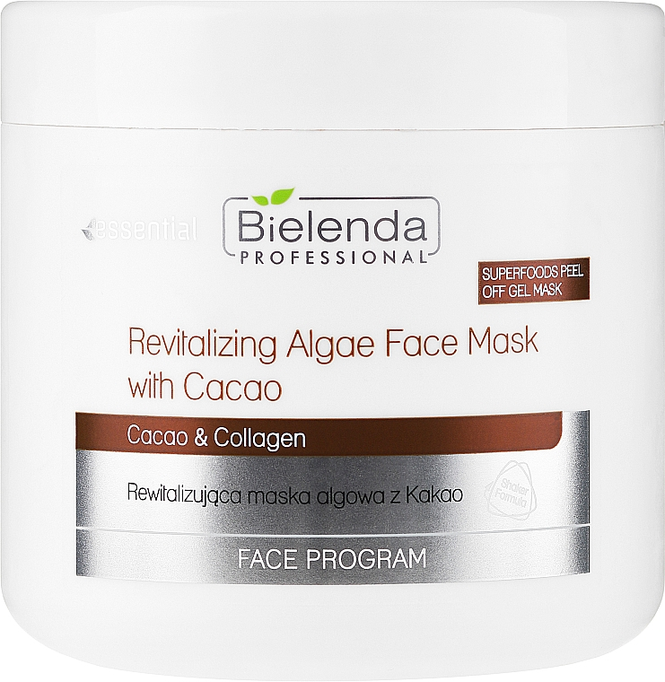 Rewitalizująca maska algowa z kakao - Bielenda Professional Peel Off Gel Mask — фото N1