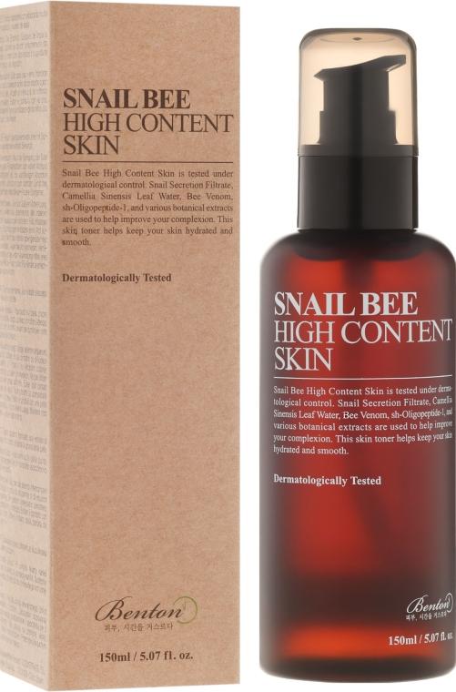 Tonik do twarzy z wysoką zawartością śluzu ślimaka - Benton Snail Bee High Content Skin — фото N1