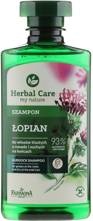 Szampon do włosów tłustych u nasady i suchych na końcach Łopian - Farmona Herbal Care