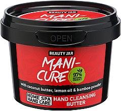 Kup Oczyszczające masło do rąk z masłem kokosowym, olejkiem cytrynowym i pudrem bambusowym - Beauty Jar Mani-Cure Hand Cleansing Butter