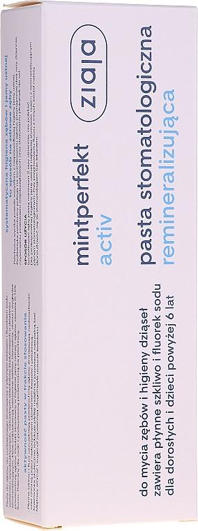 Pasta do zębów remineralizująca - Ziaja Mintperfekt Activ — фото N1