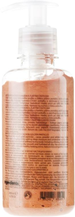Balsam do ciała z kakao i drobinkami złota - Hristina Cosmetics Orient Gold Cacao Body Milk — фото N2