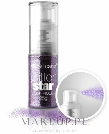 Brokat w sprayu do paznokci - Silcare Glitter Star — фото Light Violet