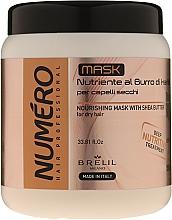 Kup Kremowa maska nawilżająca do włosów Masło shea - Brelil Numero Nourishing Cream With Shea Butter