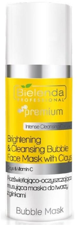 Rozświetlająco-oczyszczająca musująca maska do twarzy z glinkami - Bielenda Professional Face Program Bubble Musk Clay — фото N1