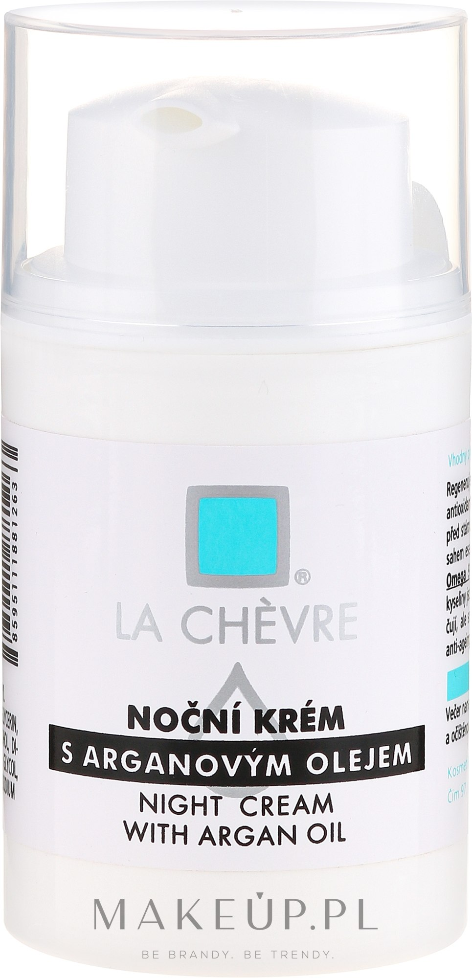 Krem do twarzy na noc z olejem arganowym - La Chévre Night Cream With Argan Oil — фото 50 g