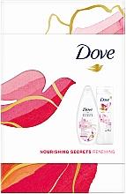 Kup Zestaw - Dove Nourishing Secrets Renewing (sh/gel/250ml + b/lot/250ml)