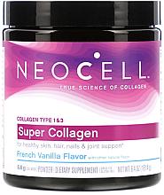 Kup Super Kolagen w proszku typu 1 i 3, Francuska wanilia - NeoCell Super Collagen Powder, French Vanilla Flavor