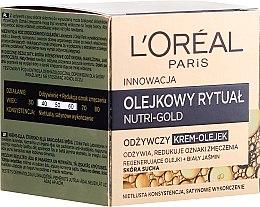 Odżywczy krem-olejek do skóry suchej - L'Oreal Paris Nutri Gold Cream-Oil — фото N1