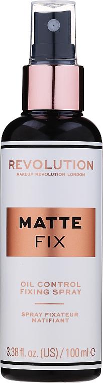Utrwalacz makijażu w sprayu - Makeup Revolution Matte Fix Oil Control Fixing Spray