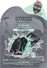 Kup Detoksykująca maska na tkaninie do twarzy Węgiel i sól morska - Freeman Detoxifying Sheet Mask