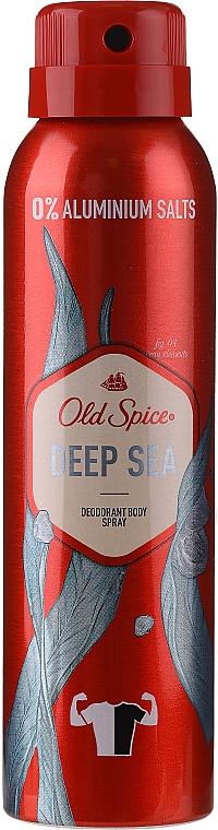 Zestaw - Old Spice Deep Sea Wooden Chest (deo/spray/150ml + deo/50g + sh/gel/250ml + ash/lot/100ml) — фото N7