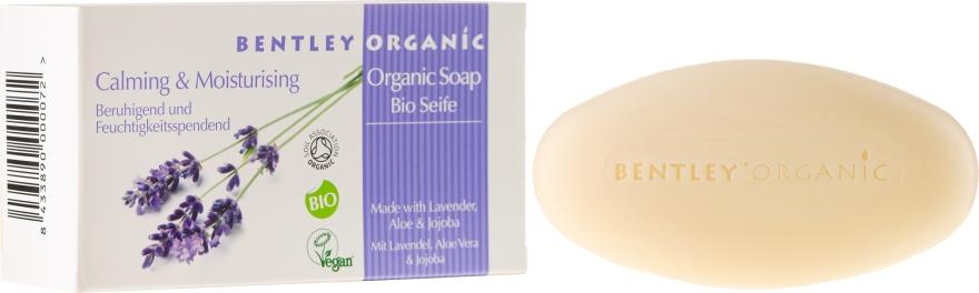 Nawilżające mydło kosmetyczne Lawenda, aloes i olej jojoba - Bentley Organic Body Care Calming & Moisturising Soap Bar — фото N1
