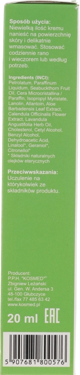 Krem do pielęgnacji skóry z rokitnikiem - Kosmed Rokitoderm — фото N2