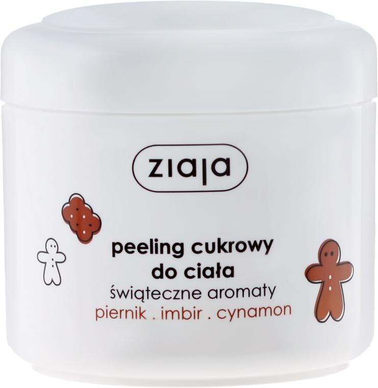 Peeling cukrowy do ciała Piernik, imbir, cynamon - Ziaja Świąteczne aromaty