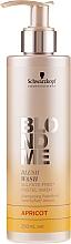 Kup Szampon bez sulfatów do włosów blond Morela - Schwarzkopf Professional Blond Me Blush Wash Apricot