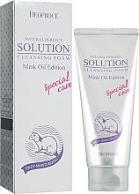 Kup Nawilżająca pianka do mycia twarzy - Deoproce Natural Perfect Solution Cleasing Foam Mink Oil