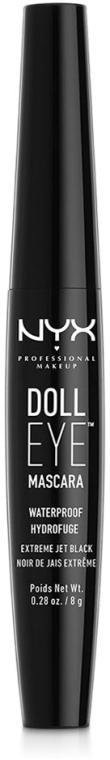 Wodoodporny tusz zwiększający objętość rzęs - NYX Professional Makeup Doll Eye Mascara