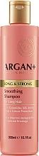 Kup Szampon do włosów z ceramidami - Argan + Long & Strong Smoothing Shampoo