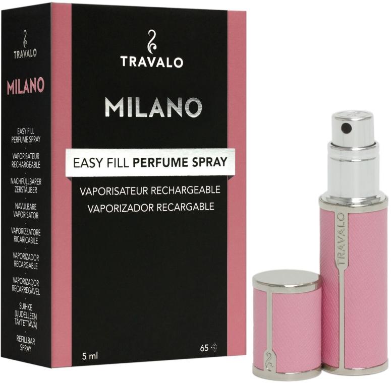 Napełnialny flakon z atomizerem na perfumy - Travalo Milano Pink Rose — фото N1