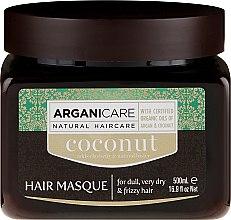 Kup Regenerująca maska do włosów z olejem kokosowym - Arganicare Coconut Hair Masque For Dull, Very Dry & Frizzy Hair