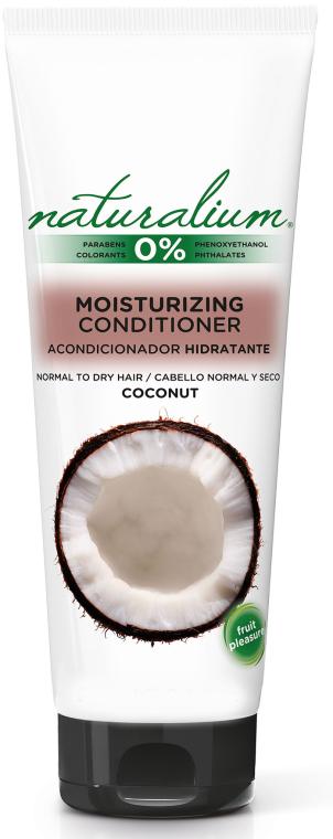 Nawilżająca odżywka do włosów normalnych i suchych Kokos - Naturalium Moisturizing Conditioner Coconut — фото N1