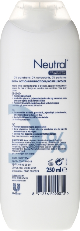Neutralny balsam do ciała - Neutral 0% Body Lotion — фото N2
