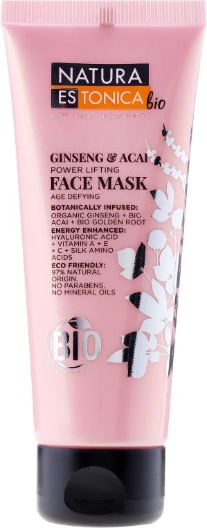Maska liftingująca do twarzy Żeń-szeń i jagody acai - Natura Estonica Bio Ginseng & Acai Face Mask