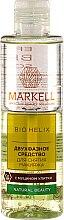 Kup Dwufazowy płyn do demakijażu z ekstraktem ze śluzu ślimaka - Markell Cosmetics Bio Helix