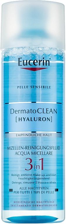 Oczyszczający płyn micelarny 3 w 1 - Eucerin DermatoClean 3 in 1 Micellar Cleansing Fluid