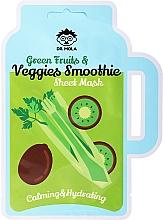 Kup Kojąco-nawilżająca maska na tkaninie do twarzy - Dr. Mola Green Fruits & Veggies Smoothie Sheet Mask