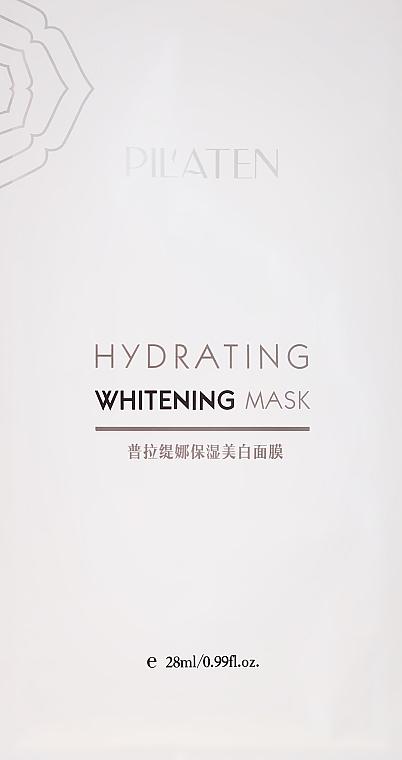 Nawilżająca maska wybielająca do twarzy - Pilaten Hydrating Whitening Mask — фото N1