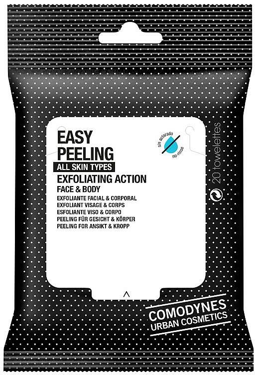 Chusteczki peelingujące do twarzy i ciała - Comodynes Easy Peeling Exfoliating Action Face and Body — фото N1