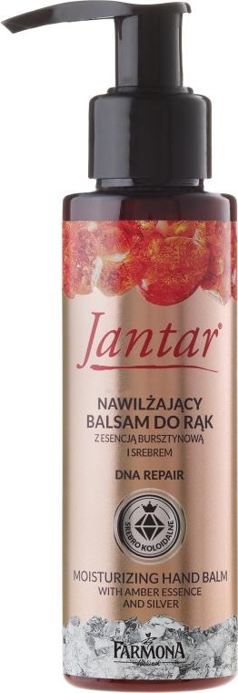 Nawilżający balsam do rąk z esencją bursztynową i srebrem - Farmona Jantar DNA Repair