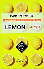 Kup Nawilżająca maseczka rozjaśniająca w płachcie do twarzy z ekstraktem z cytryny - Etude House Therapy Air Mask Lemon