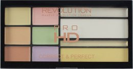 Paletka korektorów do twarzy - Makeup Revolution HD PRO Correct and Perfect — фото N2