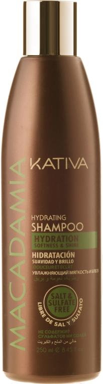Nawilżający szampon do włosów normalnych i zniszczonych - Kativa Macadamia Hydrating Shampoo