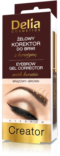 Żelowy korektor do brwi - Delia Cosmetics Eyebrow Gel