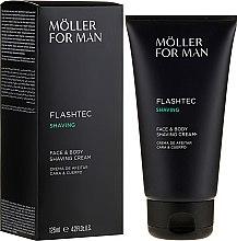 Krem do golenia twarzy i ciała - Anne Moller Man Flashtec Shaving Face And Body Shaving Cream — фото N1