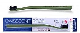 Kup Szczoteczka do zębów, średnia-miękka, zielona - SWISSDENT Profi Colours Soft-Medium Toothbrush Green&Black