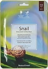 Kup Maska do twarzy w płachcie Śluz ślimaka - Beauugreen Contour 3D Snail Essence Mask