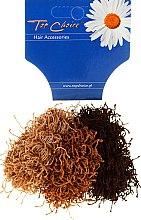 Kup Gumki do włosów typu Spaghetti 3 sztuki, brązowe - Top Choice